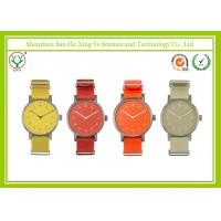 China Red Nylon Strap Wataches With 2015 Movement / Stainless Steel Case wholesale