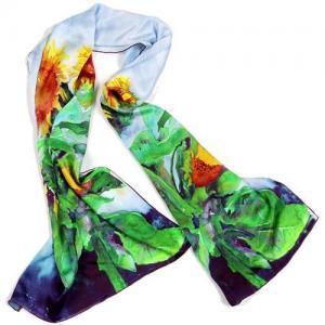 China nobleness style digital printed OEM women silk scarves/neckwear wholesale