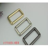 China Wholesale manufacturing zinc alloy 11/2 inch gold metal square o ring for handbag hardware and fitting wholesale