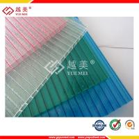 China transparent plastic hollow twin wall polycarbonate sheet wholesale