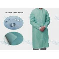 China High Performance Disposable Standard Surgical Gown Wood Pulp Spunlace With 4 Waist Belts wholesale