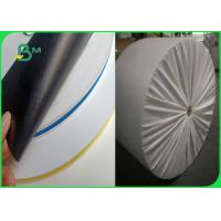Quality Jumbo Roll 600mm Hard Not Easily Deformed Colored 60 / 120gsm Straw Paper For Drink for sale