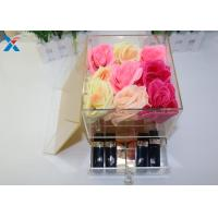 China 9 Holes Acrylic Flower Pot Chemical Stability , Small Acrylic Box A Class Acrylic Sheet wholesale