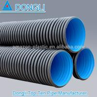 Quality High Density hdpe double wall corrugated pipe for sale
