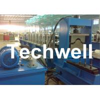 China 7.5 Kw Tile Roof Ridge Cap Roll Forming Machine With 0.3 - 0.7mm Material Thickness wholesale