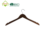 """China 17.4x9.2x0.47"""" Coat Solid Wood Hangers Nature Shoulder Grooves wholesale"""