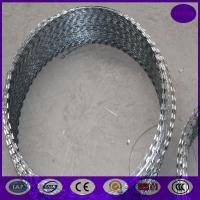 China 800mm 64 loops 10m concertina razor barbed wire wholesale