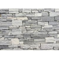 China Cloudy Grey Quartzite Z Stone Cladding,Natural Thick Culture Stone Veneer, Z Cut Stacked Stone wholesale