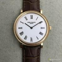 China Patek Philippe Classic 5120 Automatic Mini Rotor Cal.240 White Dial Roma Marker Watch on sale