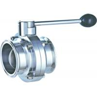 China Manual 1.5 Inch Butterfly Valve Stainless Steel  Clamped  Pull 3 ~ 4 Handle Position wholesale