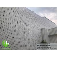 China External Powder Coated Metal Aluminium Facade With Perforation Design 3mm Akzo Nobel wholesale
