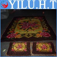 China polyester coral velvet fabric quilt floral blanket wholesale