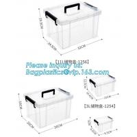 China Customized Clear Household Large Storage Boxes With Lids, household large clear plastic storage box, Storage Box Clear on sale