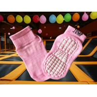 China Breathable Polyester Gymnastic Grip Socks , Quick Dry Kids Non Skid Socks , Four Seasons Bounce Socks on sale