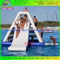 China Best Sale Qinda Inflatable Floating Water Slide Adults Inflatable Water Slide wholesale