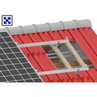 China TX1002 Aluminum Solar Mounting System Anodizing Surface Treatment For Tile Roof wholesale