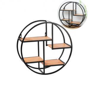 Quality Wall Mounted Iron Shelf Round Floating Shelf Wall Storage Holder and Rack Shelf for sale