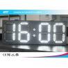 China White And White Led Clock Digital Clocks With Large Display , Long Lifespan wholesale