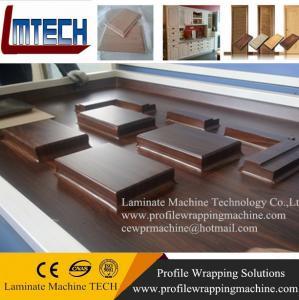 China pvc decorative wood grain foil vacuum membrane press machine wholesale