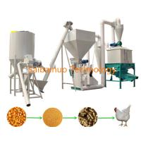 China Poultry Chicken Cattle Cow Feed Pellet Line , Feed Production Line For Algeria Market wholesale