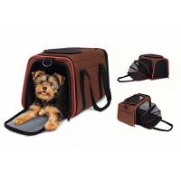 China Breathable Brown Airline Approved Pet Carrier Bag For Puppies Kittens Rabbits wholesale