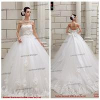 China Real Sample Pure White Ball Gown Puffy Off Shoulder Floor Length Tulle Skirt Wedding Dress wholesale