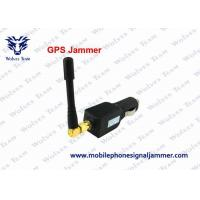 China Compact Structure GPS Tracker Jammer , Car GPS Blocker 21dbm / 128mW Output Power wholesale