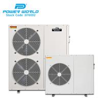 China Power World Automatic Electric Hot Water Heater cooling heating DC inverter hot water heat pump system on sale