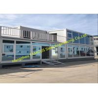 China Foldable Flat Pack Container House With Glass Facade Decoration For Office Use on sale