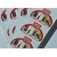China Custom Vinyl Custom Sticker Labels CMYK Offset Printing For Electronic Products wholesale