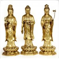 China Realistic Ancient Outdoor Brass Statue Sculptures Decoration For Public wholesale