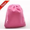 China Light color Velvet Drawstring Bag , velour pouch for packing Hot Stamp wholesale