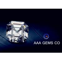China OEM Colorless Asscher Cut Moissanite 10mm Hardness 9.2 To 9.5 wholesale