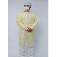 China Waterproof Yellow 25 Pack 115CM Disposable Isolation Gowns wholesale