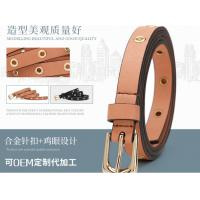 China Brown Color And Black Color Vintage Leather Belt With Rose Gold Prong Buckle wholesale