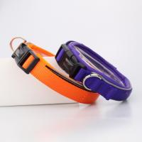 China C502 New Soft Safety Pet Collar and Leash Reflective Neoprene Nylon Webbing Dog Collars for walking wholesale