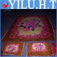 China indian polyester velvet bedsheets quilt cover wholesale