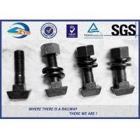 China High Tensile Black Surface Railway Bolt / Railroad Grade 5.6 T Head Track Bolt on sale
