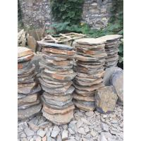 China Multicolor Slate Stepping Stones,Rusty Slate Round Garden Pavers,Natural Stone Pavement for Landscaping wholesale