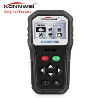 China Handheld free upgrade 2.8 inches black and white screen car battery tester KW818 support read and erase fault codes on sale