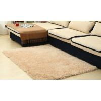China Modern Plain 100% Polyester Shag Rug For Bedroom / Meeting Room wholesale