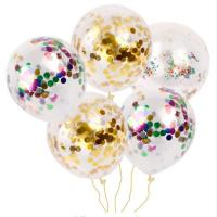 China Birthday Party Balloon,High Quality 12 Inches Party Clear Balloon With Confetti on sale