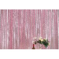 China OEM Custom Pink Gold Sequin Backdrop Mesh Flat Window Application wholesale