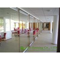 China Movable Glass Partition For Office, 12mm tempered Clear glass on sale