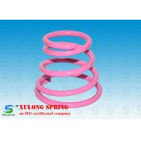 China High Strength Special Cone Shaped Springs Pink Powder Coated For Damping wholesale