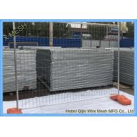 China Heavy Duty Galvanized Temporary Fence with Concrete Block Base wholesale