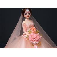 China Professional Wedding Doll Toy 45cm Size Color Optional With Wedding Dress wholesale