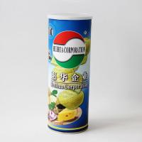 China Peel Off Foil Sealed Embossing Paper Composite Cans For Chips , Snack Foods wholesale