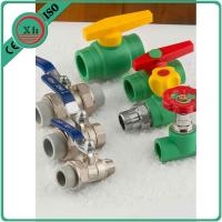 China Size 20 - 32 Mm PPR Ball Valve , Pn25 Female Thread Brass Ball Valve With Union wholesale