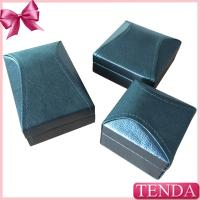 China Unique Irregular Roof Black Leather Pendant Ring Jewellery Boxes wholesale